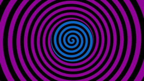 Loopable video - color rotating spiral. Animation Animation