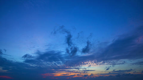 Evening timelapse with sunset and clouds Footage
