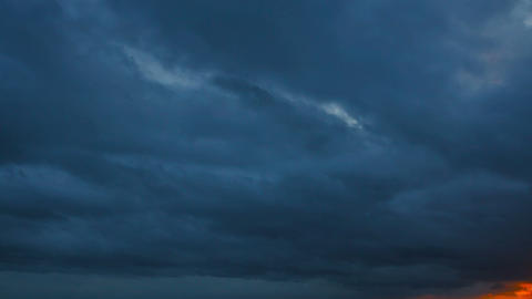 Night timelapse with clouds. Storm coming Footage