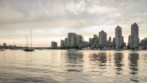Sunset time at False Creek, Vancouver Footage