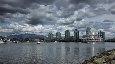 Cloudy afternoon at Science World in vancouver Footage