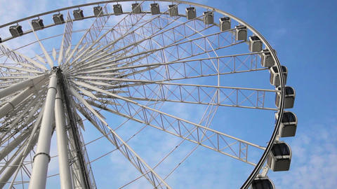 Ferris Wheel Against The Sky Close-up stock footage
