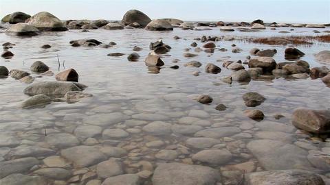 The rocks on the sea Footage