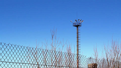 The View Of The Prison Outside The Fence stock footage