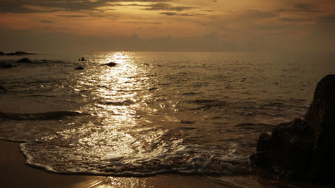 On the beach in the evening. Thailand. Phuket Footage