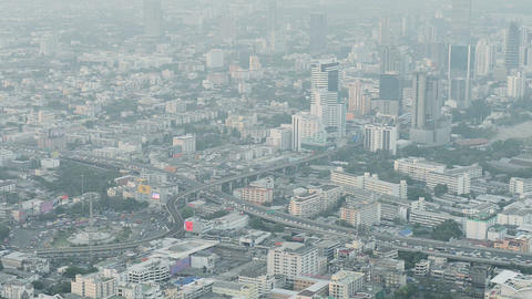BANGKOK. THAILAND - APR 9: Modern City With Highwa stock footage