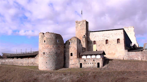 The view of an old ruined castle Footage