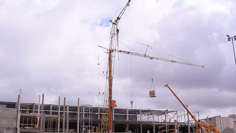 Loading of cargos using the crane Footage