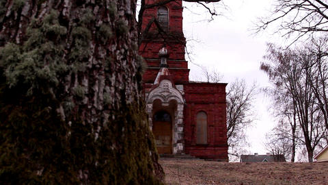 The red old church Footage