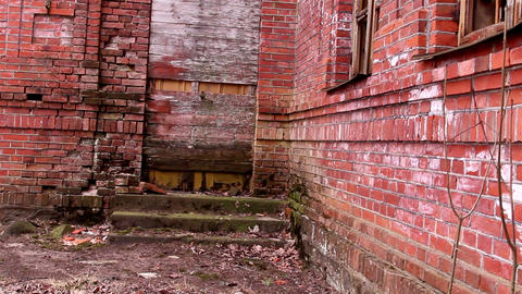 The stone brick wall of the old church Footage
