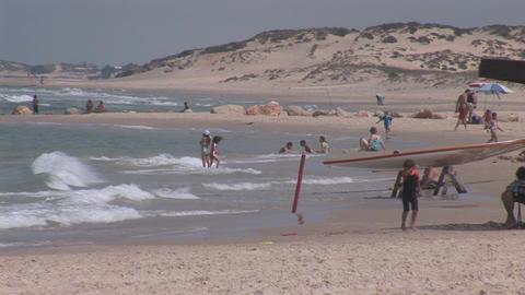 caesarea beach 2 Stock Video Footage