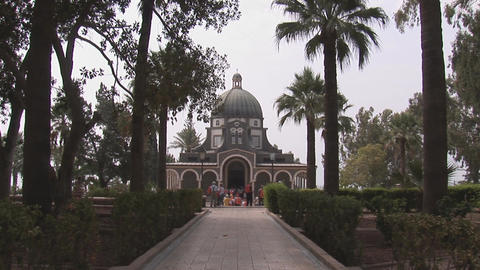 Israel: Church of the Beatitudes Stock Video Footage