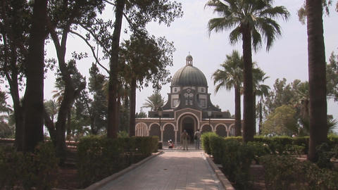 Church of the Beatitudes 4 Stock Video Footage