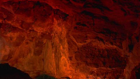 inside lava cave 3 Stock Video Footage