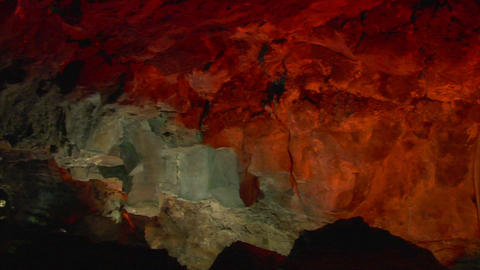 inside lava cave 3 Stock Video Footage