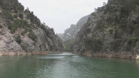 Lake in the Green Canyon Footage