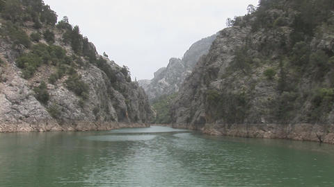 Lake in the Green Canyon Stock Video Footage