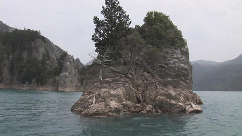 Island in Green Canyon Stock Video Footage