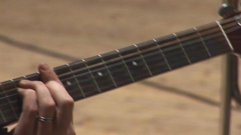 acoustic guitar 6 Stock Video Footage