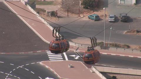 haifa cableway 1 Stock Video Footage