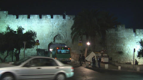 Jerusalem city bus Stock Video Footage