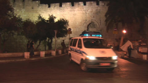 Jerusalem police 3 Stock Video Footage