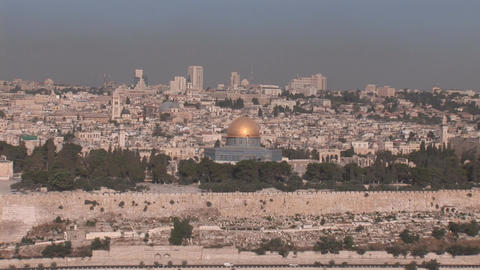 Jerusalem Dome of the Rock Stock Video Footage