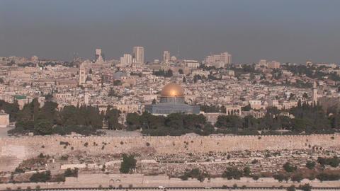 Jerusalem Dome of the Rock Stock Video Footage