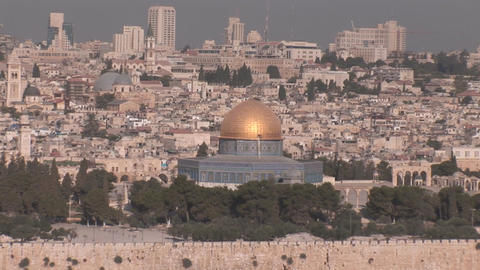 Jerusalem Dome of the Rock Footage