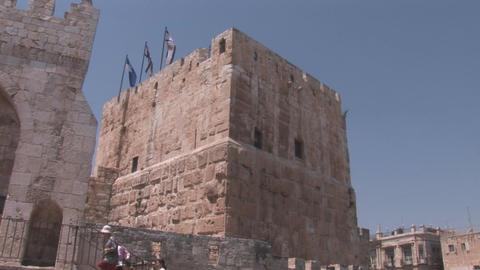 Jerusalem tower Stock Video Footage