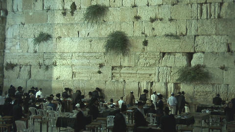 Kotel at night 1 Stock Video Footage