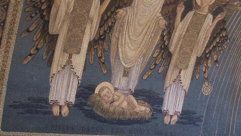 nativity mosaic Stock Video Footage