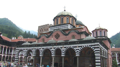 Rila Monastery Stock Video Footage