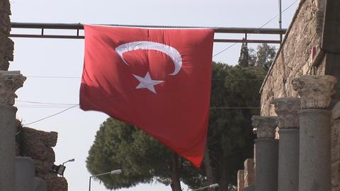 turkish flag Stock Video Footage