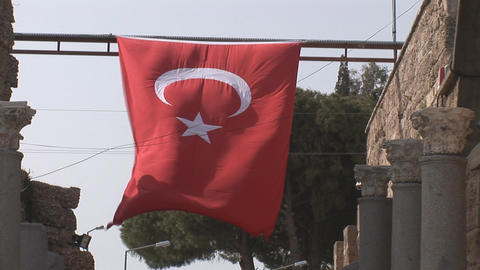 turkish flag Footage