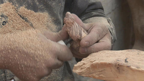 wooden souvenirs Footage