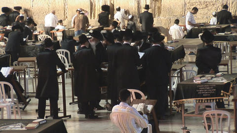 Kotel at night 3 Stock Video Footage
