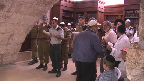Kotel synagogue 2 Stock Video Footage
