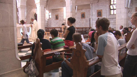 people in church Stock Video Footage