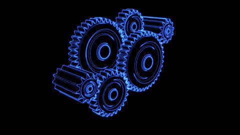 gear glow 04 Stock Video Footage