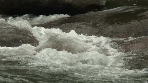Malawi: water stream of a river in rock 1a Stock Video Footage