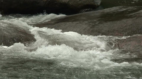 Malawi: water stream of a river in rock 1a Footage