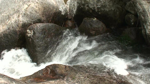 Malawi: water stream of a river in rock 2 Stock Video Footage