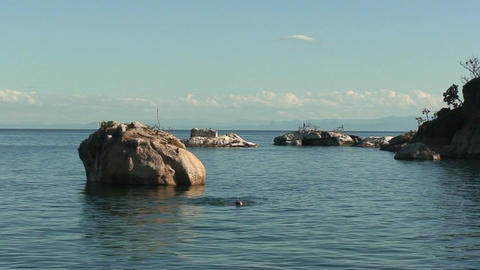 Malawi: swimming in the lake Footage