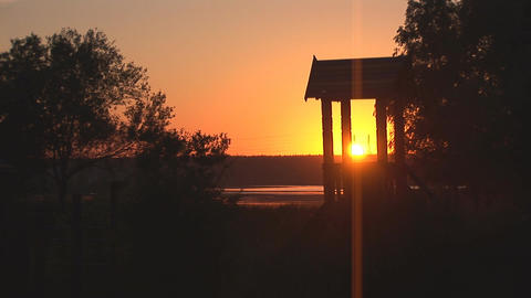 sunset lake 2 Stock Video Footage