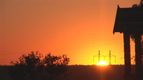 sunset power line 1 Stock Video Footage