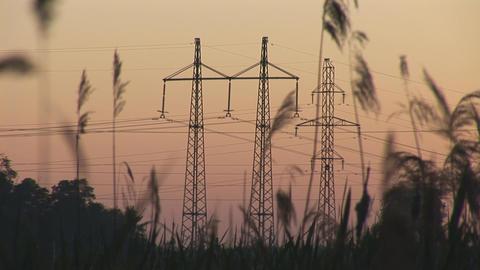 sunset power line 7 Footage
