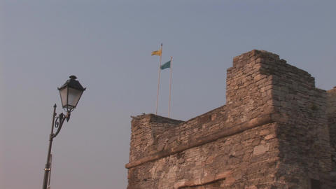 tower flag Stock Video Footage