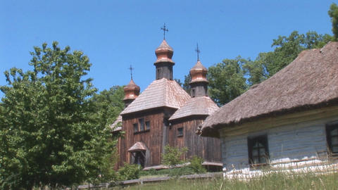 wooden church 6 Footage