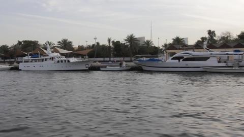 Dubai Creek From Boat 0002 Stock Video Footage